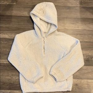 Girls Old Navy Sherpa Hoodie Size L 10/12